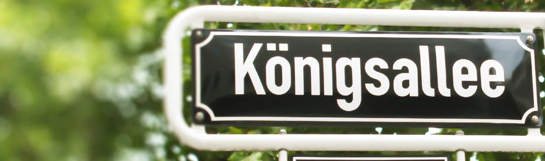 Kinderwunsch-Kö - Strassenschild Königsallee